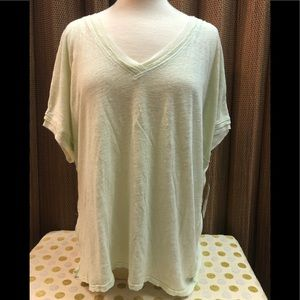 NEW WITH TAG Free People Green Shirt